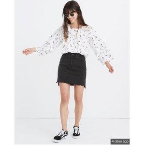 Nwot Madewell Mini Skirt in lunar wash